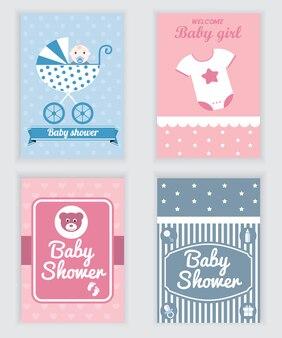 Dziecko karty prysznicowe kolekcji