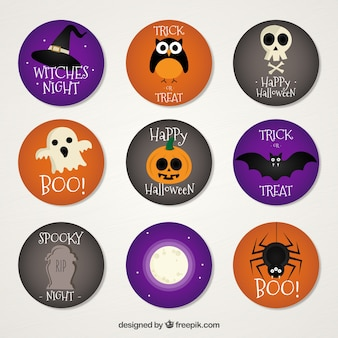 Dziewięć naklejka na halloween