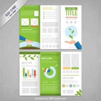 Ekologiczny broszura szablon