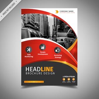 Elegancka czerwona broszura biznesowa
