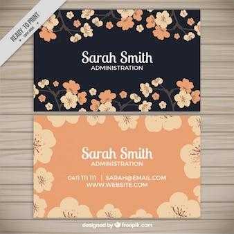 Elegancka kwiatowa korporacyjnych kart