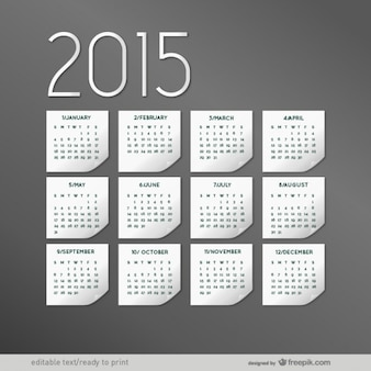 Elegancki 2015 calendar