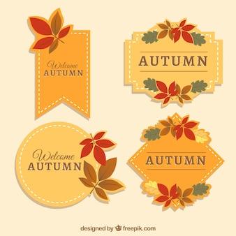 Elegancki pakiet jesiennych etykiet