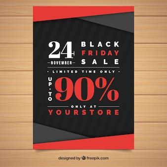 Elegancki plakat z czarną piątą