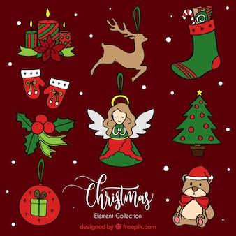 Eleganckie elementy Boże Narodzenie