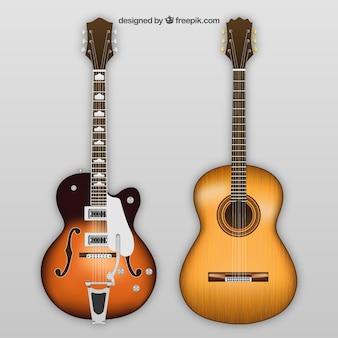 Elektryczne i akustyczne gitary