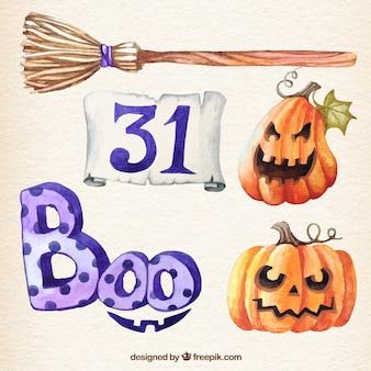 Elementy Akwarela halloween