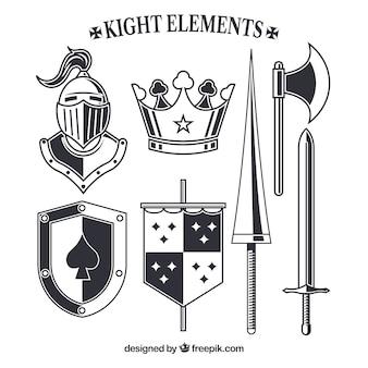 Elementy rycerza o eleganckim stylu