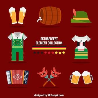 Elementy tradycyjny zestaw Oktoberfest