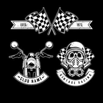 Elementy wyścigowe w stylu vintage