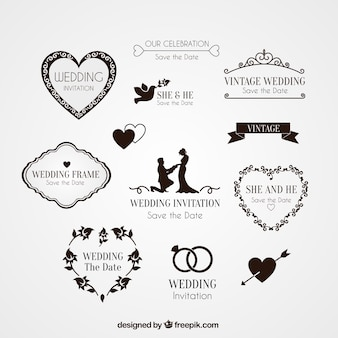 Elementy zaproszenie na ślub