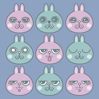 Emotikony, króliki