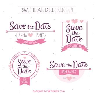 Etykiety ślubne z pięknym stylem