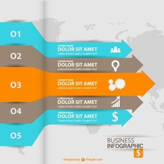 Etykiety obrotu strzałka infography