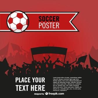 Fani piłki nożnej wektor plakat