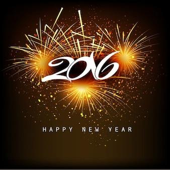 Fantastyczny nowy rok 2016 w tle