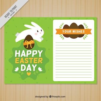 Fantastyczny szablon karty z królików na wielkanoc dzień