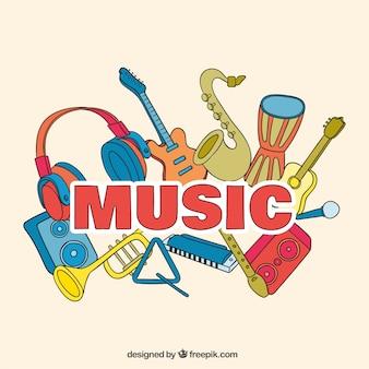 Festiwal muzyczny w tle