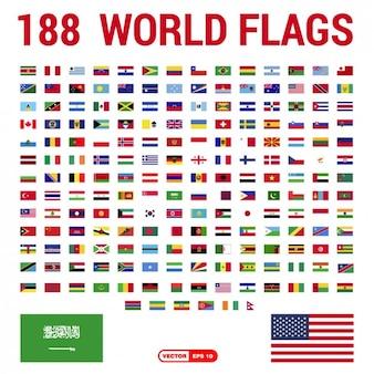 Flagi świata kolekcja