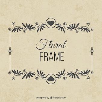 Floral ramki w zabytkowe projektowania