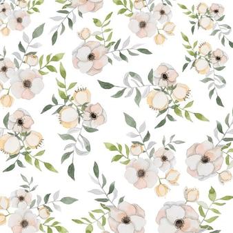 Floral tle z akwarelami