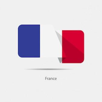Francja flag projektowania