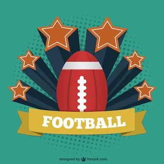 Futbol amerykański, vintage, szablon