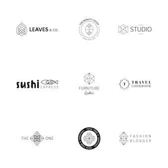 Geometryczna kolekcja logo