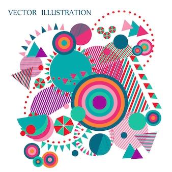 Geometryczne ilustracji wektorowych