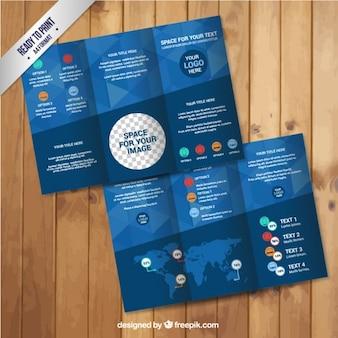 Geometryczne infografika broszura