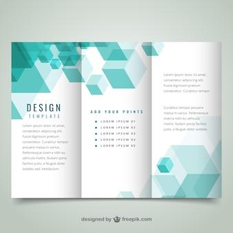Geometryczny nowoczesny szablon broszura
