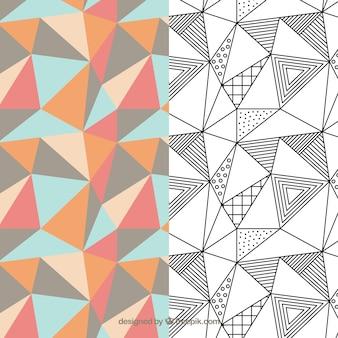 Geometryczny wzór Paczka
