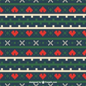 Geometryczny wzór serca Boże Narodzenie