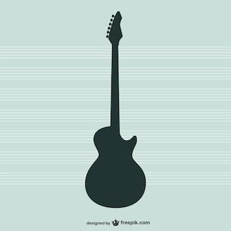 Gitara sylwetka wektor