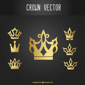 Gold Crown zestaw ikon