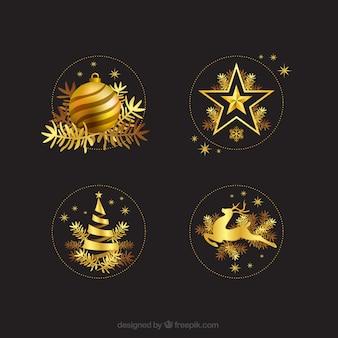 Golden christmas dekoracji