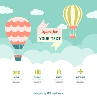 Gorące powietrze balon infografika