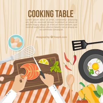 Gotowanie stół szablon