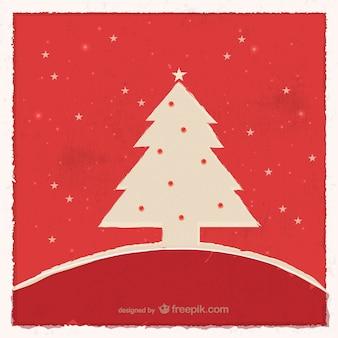 Grunge Boże Narodzenie karty z drzewa