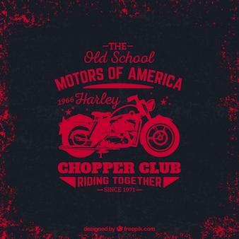 Grungy chopper Klub logo