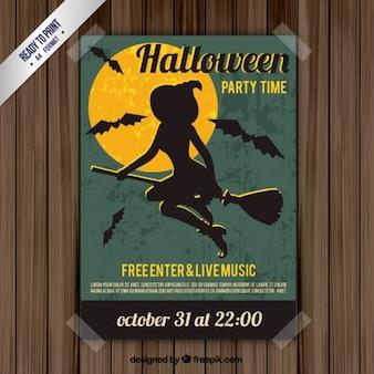 Halloween czarownica plakat