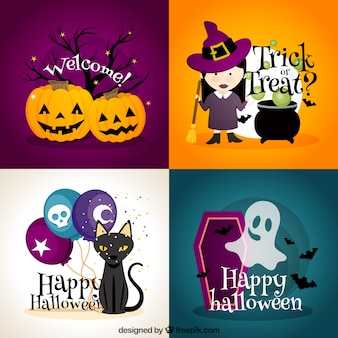 Halloween karty okolicznościowe