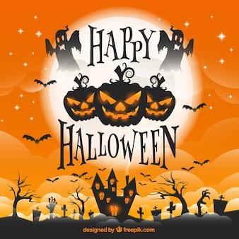 Halloween karty z pozdrowieniami