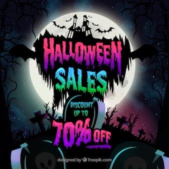Halloween sprzedaży tła