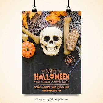 Halloween straszny plakat imprezy