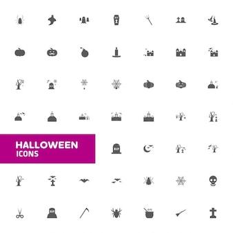 Halloween zestaw ikon