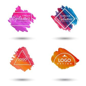 Handdrawn Akwarela Splatter logo
