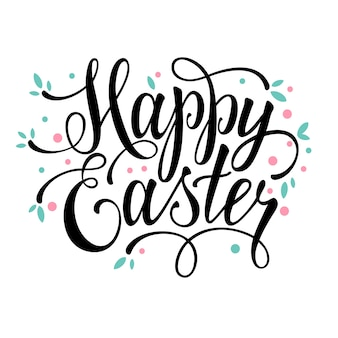 Happy Easter pozdrowienia kaligrafii znak