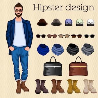 Hipster projektowanie człowiek