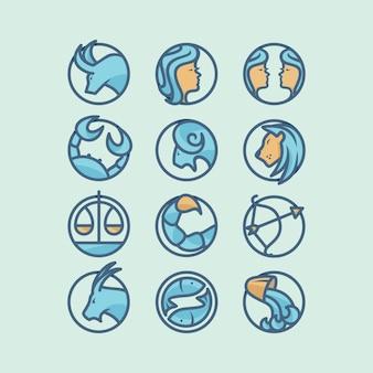 Horoskop ikona projekt